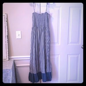 Blue and White Plaid Dress